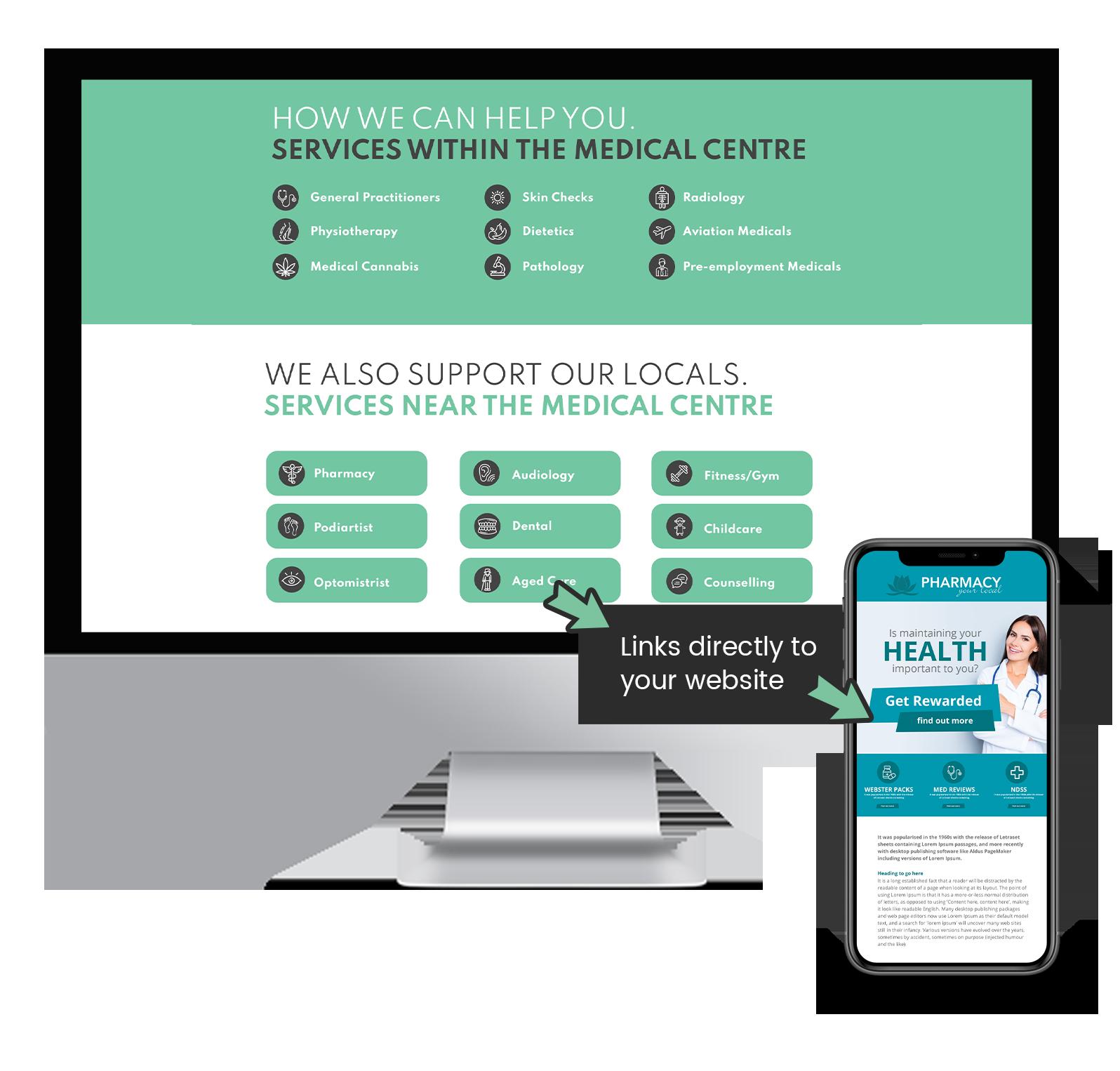 Sponsored Medical Centre Websites